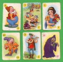 Collectable Cards game. Snow White & 7 dwarfs 1930's.
